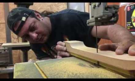 Building a Step Sister guitar: Preparing the neck and gluing the fretboard