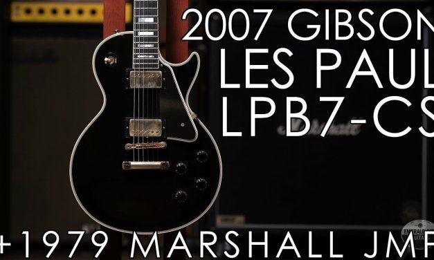 """Pick of the Day"" – 2007 Gibson LPB-7 1957 RI Les Paul Custom and 1979 Marshall JMP MKII"