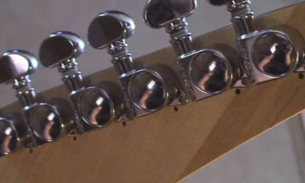 Guitar Repair !!!This Wacky guitar gets new Grover tuners