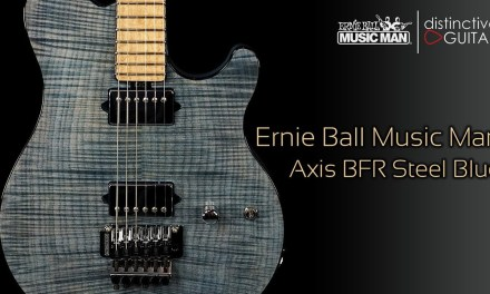 Ernie Ball Music Man Axis BFR Guitar | Blue Steel Limited Edition