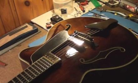Eastman Archtop Acoustic Guitar Repair Part 1 and 2
