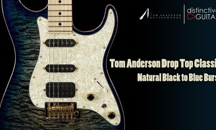 Tom Anderson Drop Top Classic Guitar | Natural Black to Blue Burst
