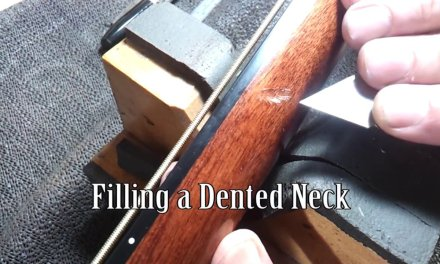 Repairing a Dented Bass Guitar Neck