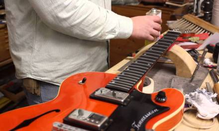 Gibson Chet Atkins guitar repair pt 3 – setting the nut slot height
