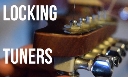 How I Restring And Stretch Guitar Strings With Locking Tuners