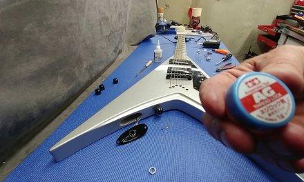 ESP DV8-R V Dave Mustaine Guitar repair!