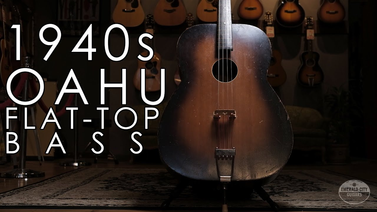 """""""Pick of the Day"""" – 1940s Oahu Flat-Top Bass"""