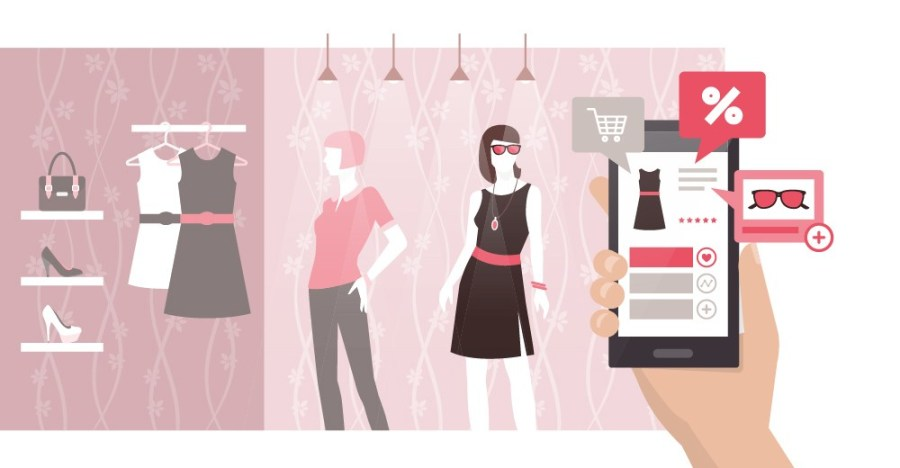 Virtual dressing rooms using augmented reality in retail