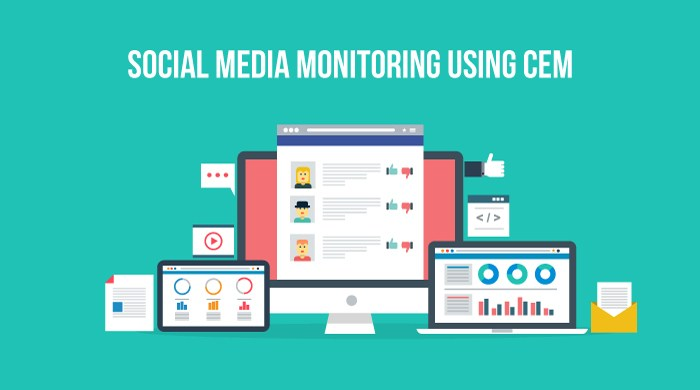 Social media monitoring with CEM