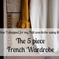 The 5 piece French wardrobe