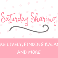 Saturday Sharing – Blake Lively, Finding Balance, and more