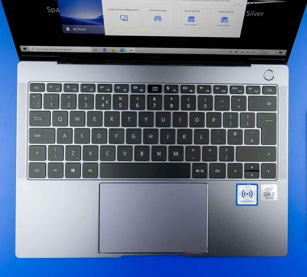 Layout und Anordnung lassen kaum Wünsche übrig beim MateBook X Pro