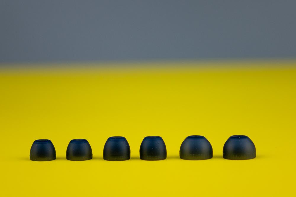 Silikon-Aufsätze in insgesamt vier verschiedenen Größen