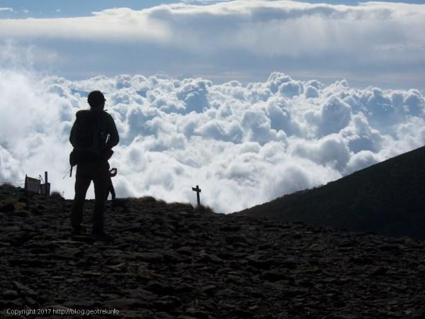 170924硫黄岳山頂から雲海