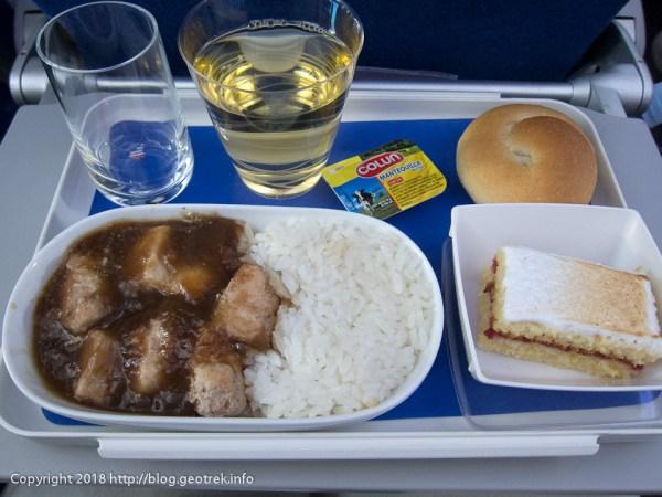 171115イースター島からサンティアゴへの機内食