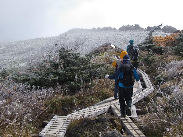 111002早池峰山・山頂付近の木道