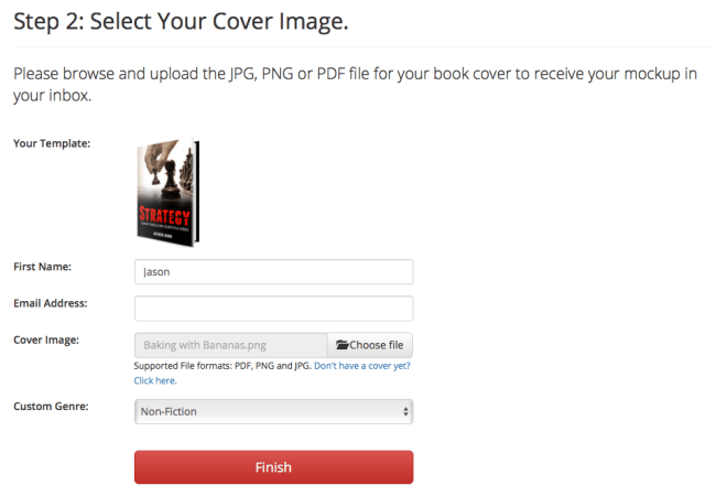 Upload your cover image