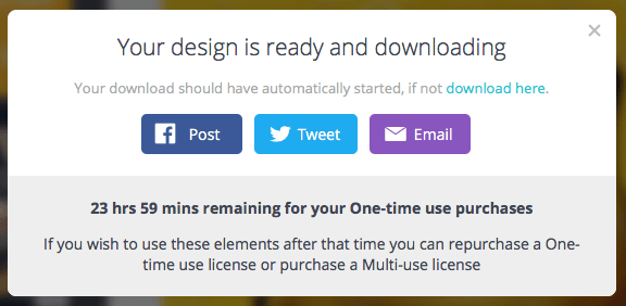 Canva Asset Purchase Timer
