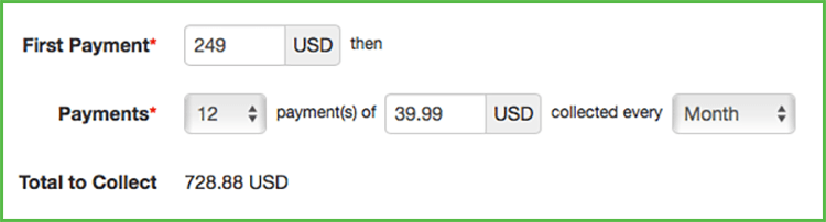 New Feature:  Installment Payments for Products
