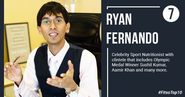 Ryan Fernanado - 10 Most influential dietitian in India