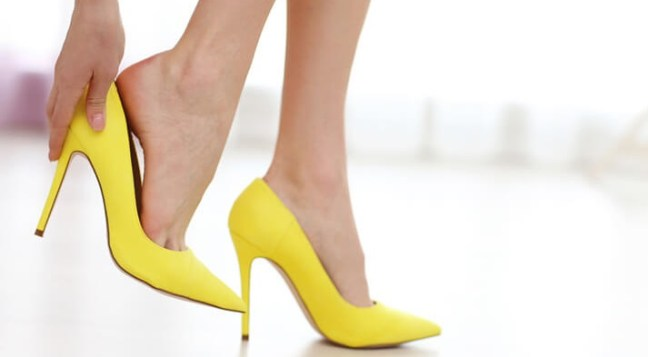 back pain due to high heels