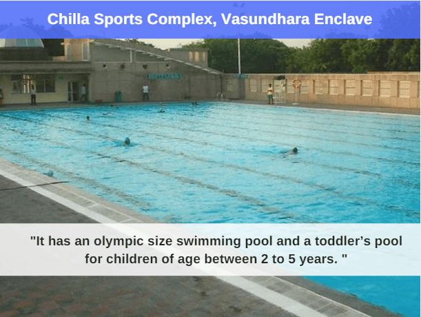 chilla sports complex : best swimming pool in delhi