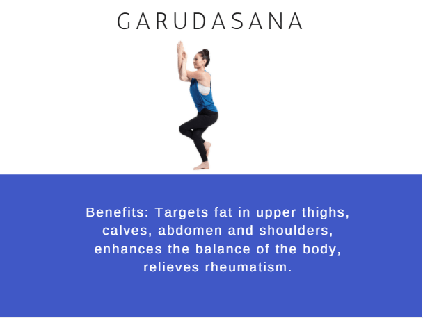 Garudasana- Ramdev baba yoga for weight loss