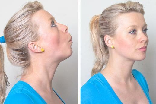 chin raise: face fat burn exercise