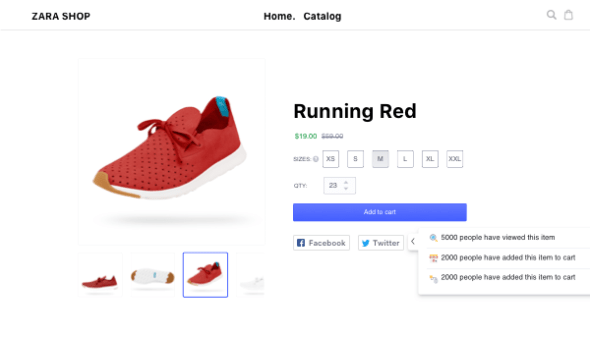 live sales notifications to increase conversion rate