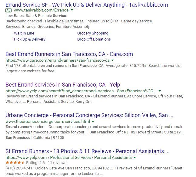 Google Search Errand Runners