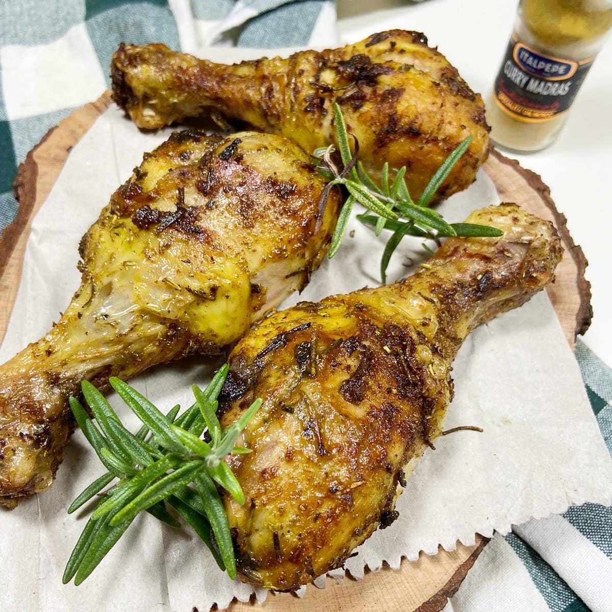 Fusi di pollo al Curry