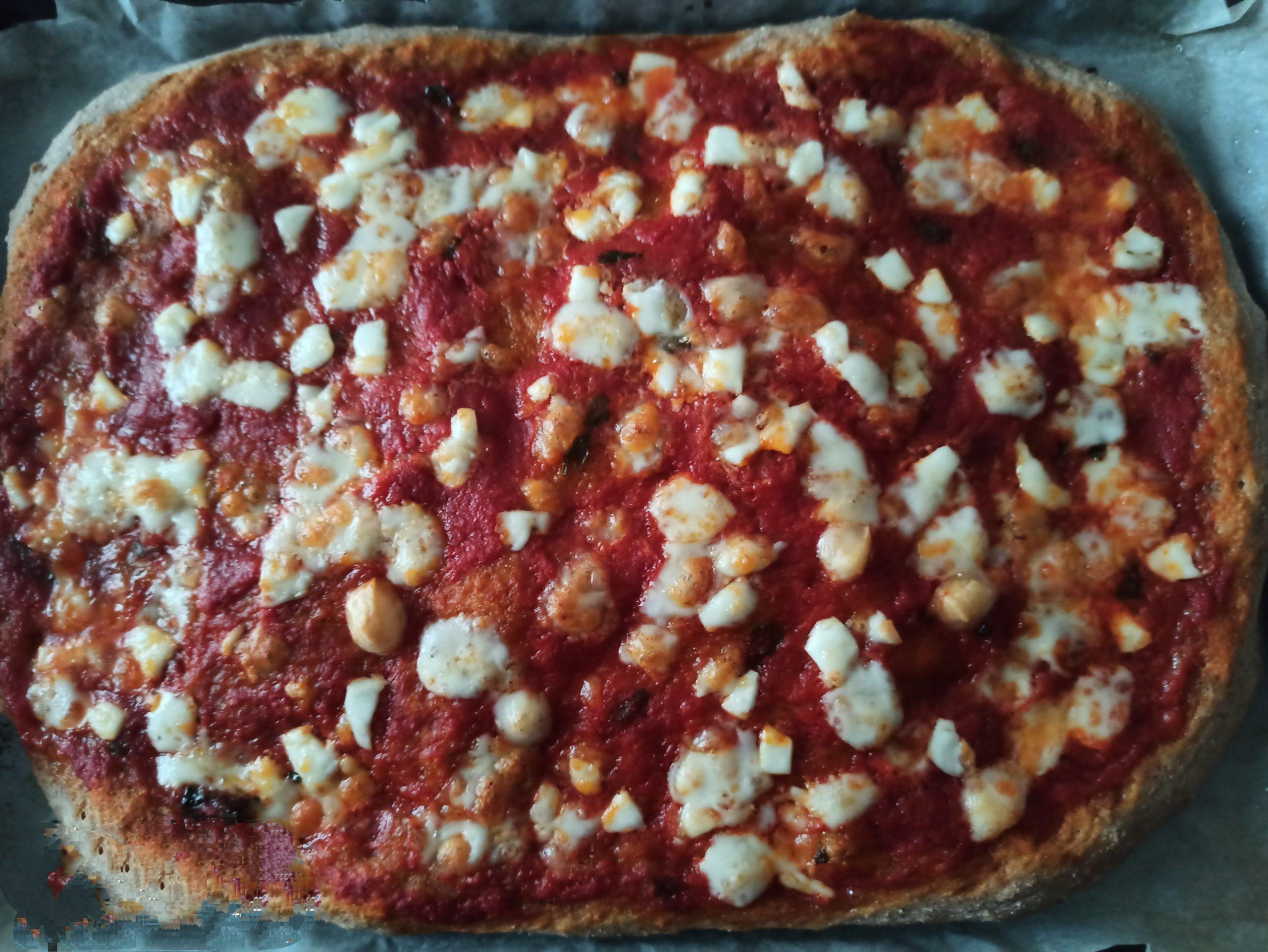 Pizza napoletana con farina integrale