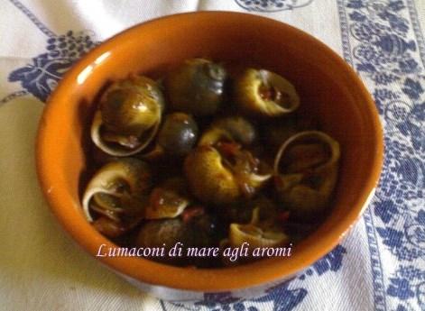 Lumaconi di mare agli aromi