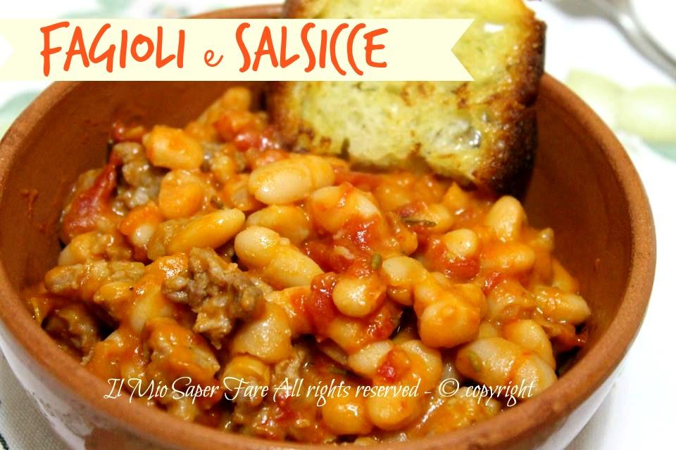 Fagioli E Salsicce Fagioli Alluccelletto Con Salsiccia