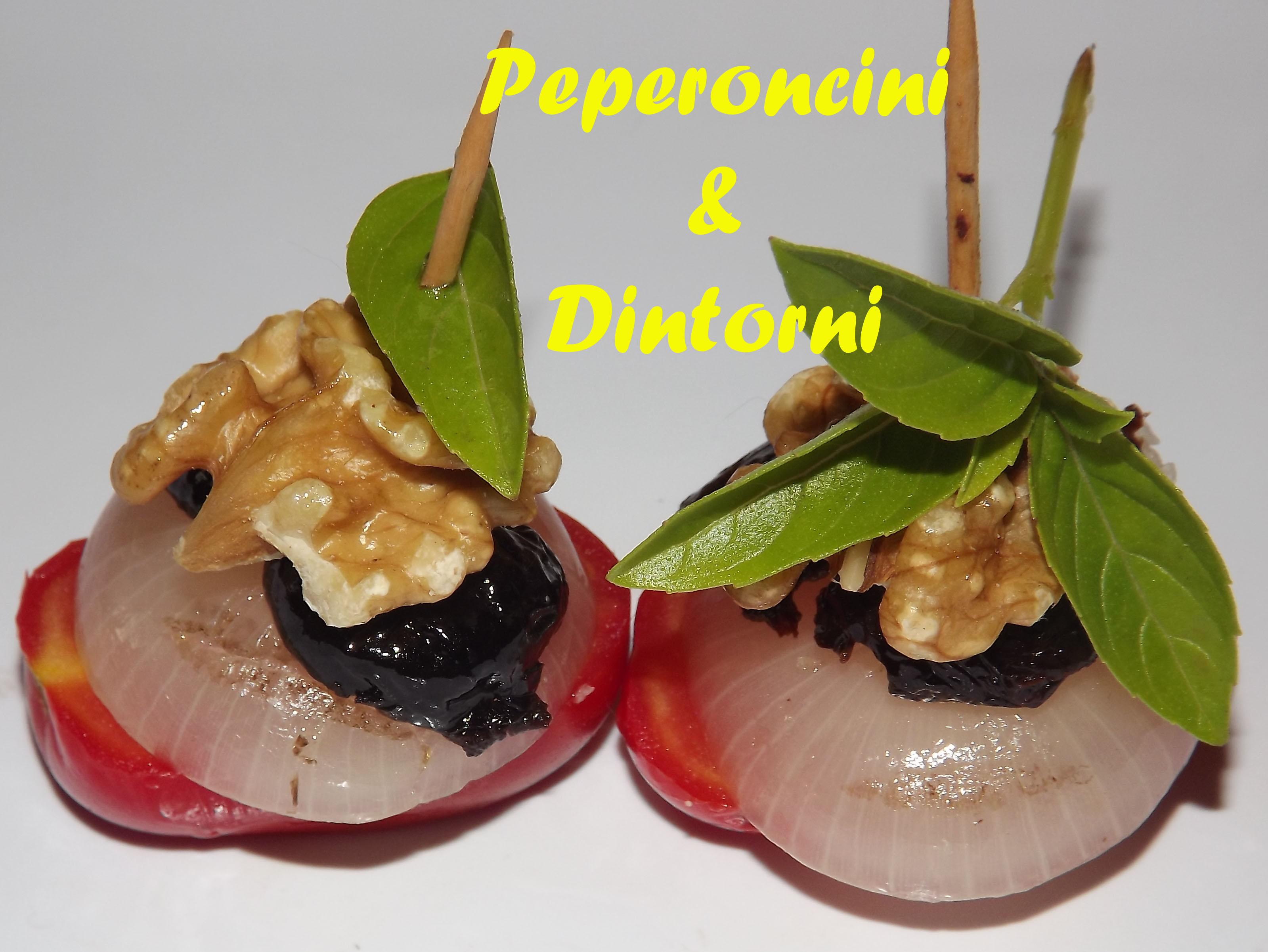 Spiedini di Cipolline Borettane Noci & Olive