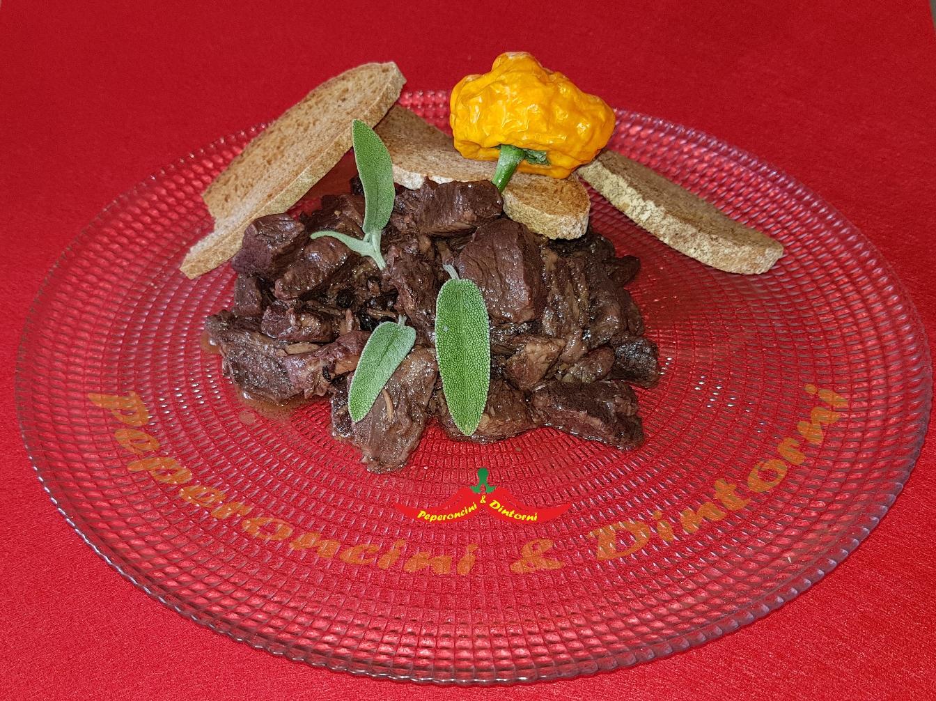 Peposo dell'impruneta con Jamaican mushroom
