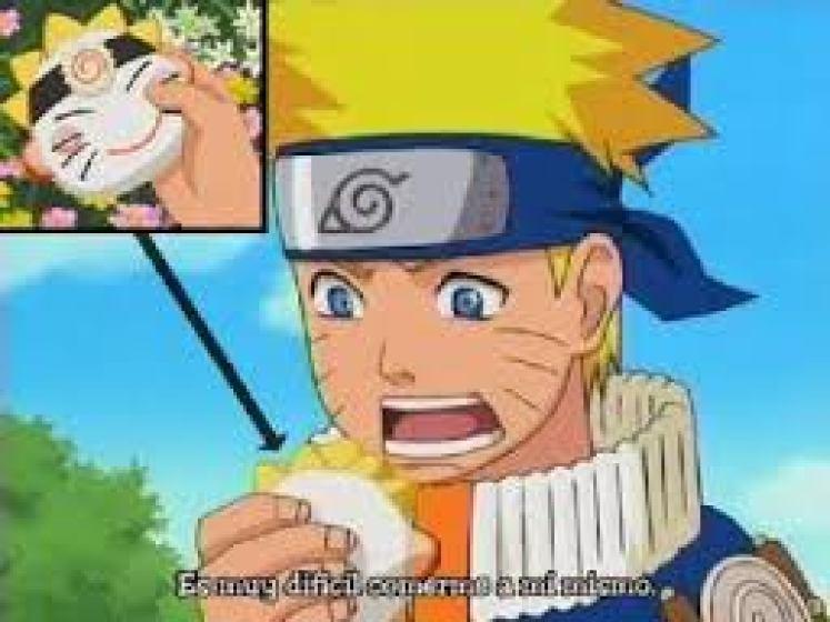 Naruto mangia Onigiri