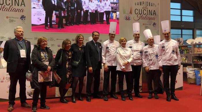Team degli chef tricolori Metro vince premio cucina Med