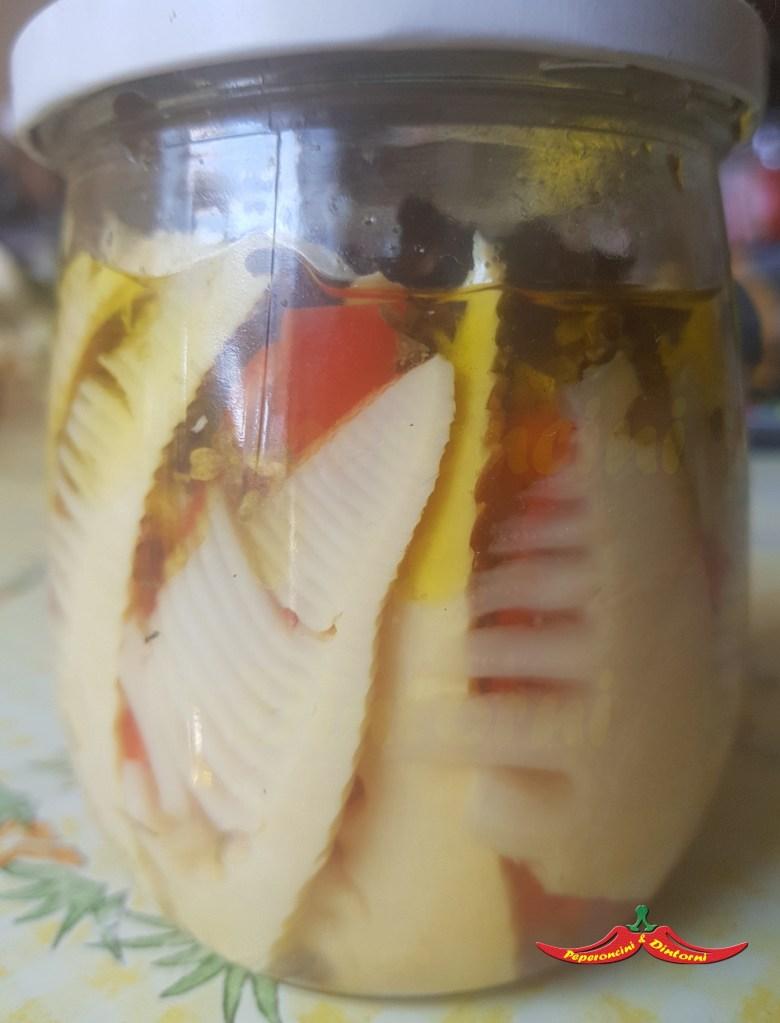 Germogli di Bambù al peperoncino starter, maggiorana e menta