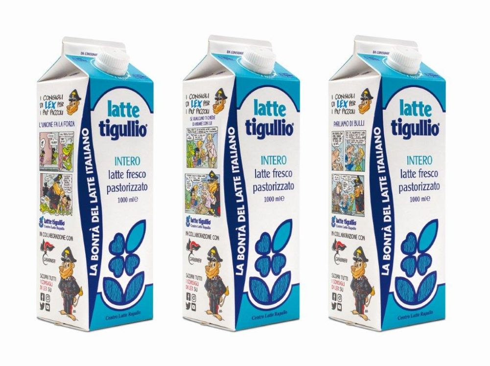 Contro il bullismo un fumetto dei carabinieri sulle confezioni del latte