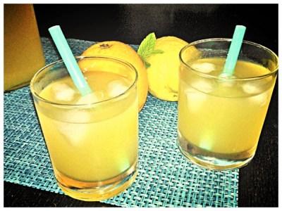 Bevanda agli agrumi e menta