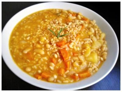 Zuppa ai tre cereali con cannellini