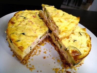 Cheesecake salato prosciutto cotto e zucchine