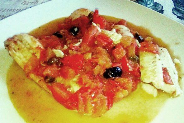 Filetti di merluzzo alla mediterranea al microonde