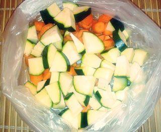 Verdure al vapore crude (cottura al microonde).