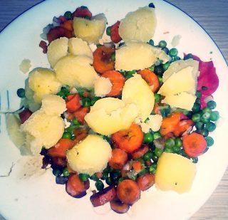 merluzzo e patate in salsa di soia (preparazione 2)