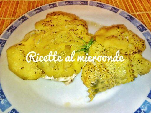 Pesce spada in crosta di patate al microonde