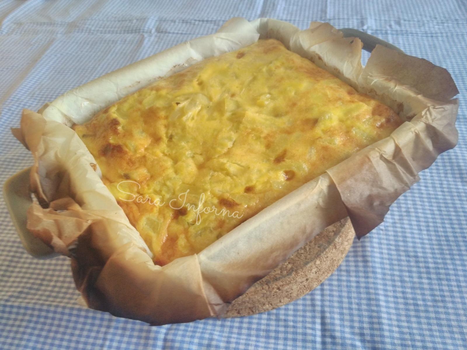 Tortilla al forno di patate e cipolle