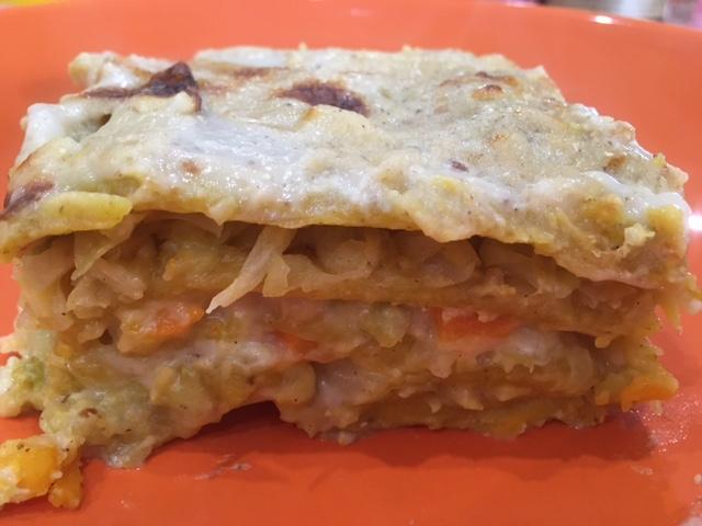Lasagna con verza e zucca