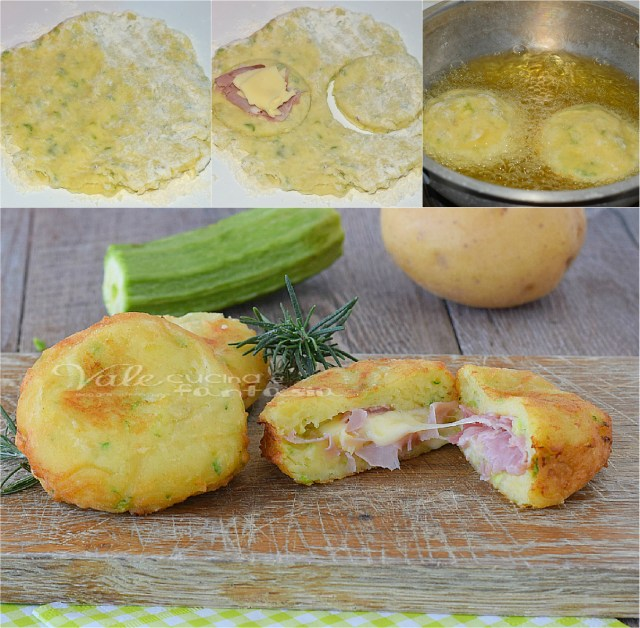 Bombas y patata rápida calabacín receta